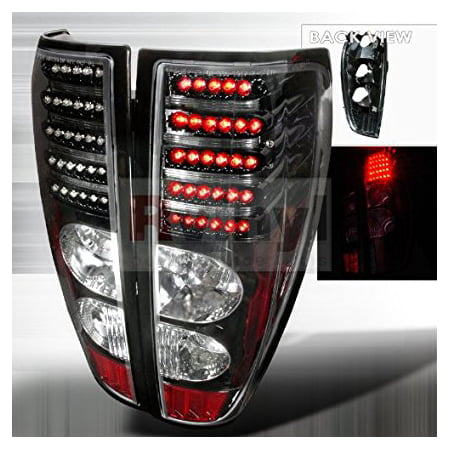 (GMC Canyon 2004 2005 2006 2007 2008 2009 2010 2011 LED Tail Lights - Black)