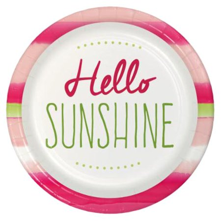 Summer 'Hello Sunshine' Large Paper Plates (8ct) - Shine Paper