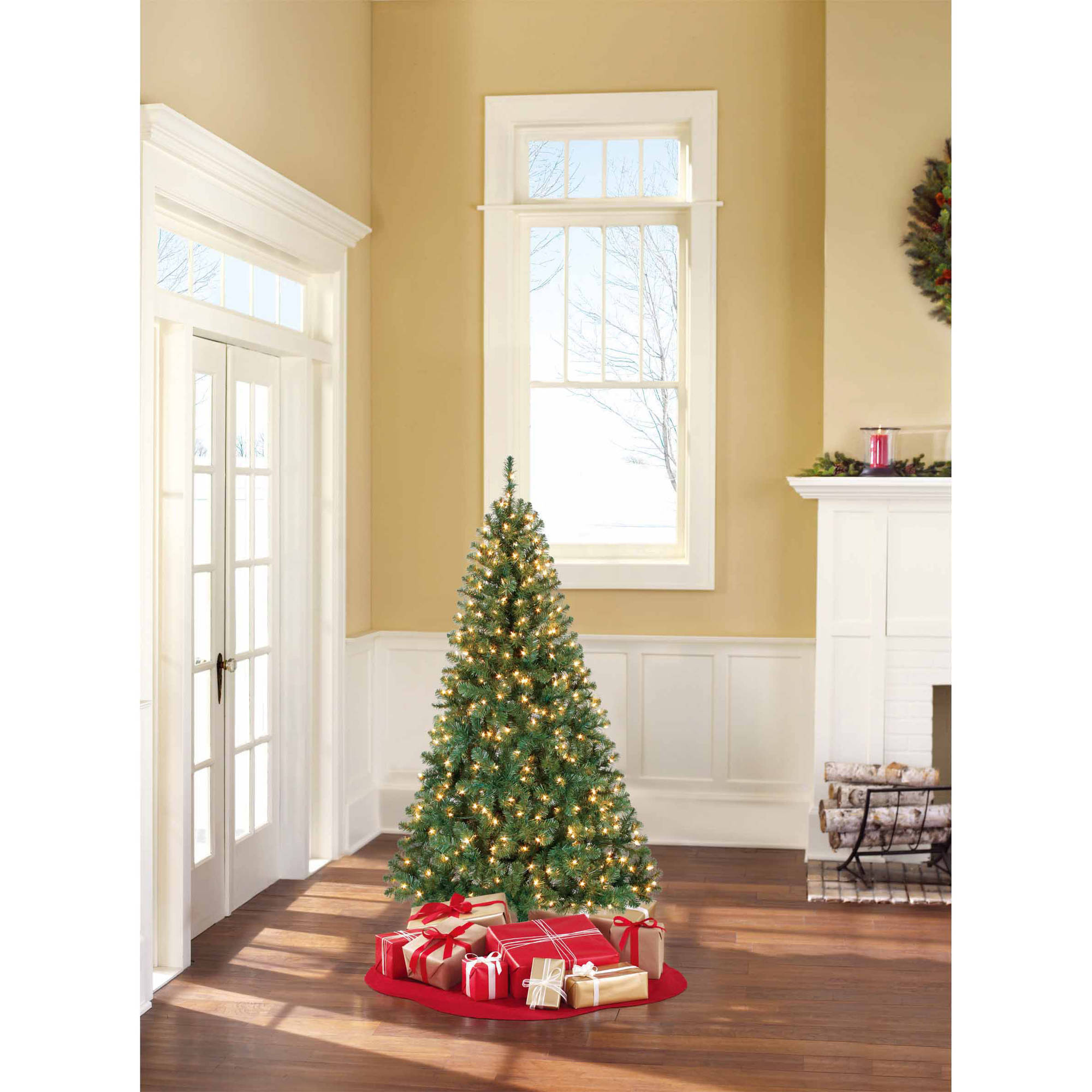 Holiday Time Pre-Lit 6.5' Madison Pine Artificial Christmas Tree, Clear Lights