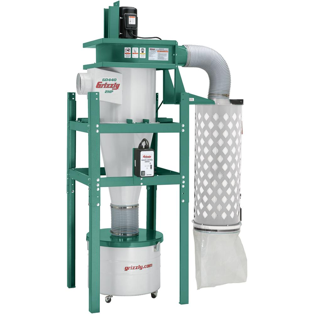 Grizzly G0440 2 HP Cyclone Dust Collector by Grizzly