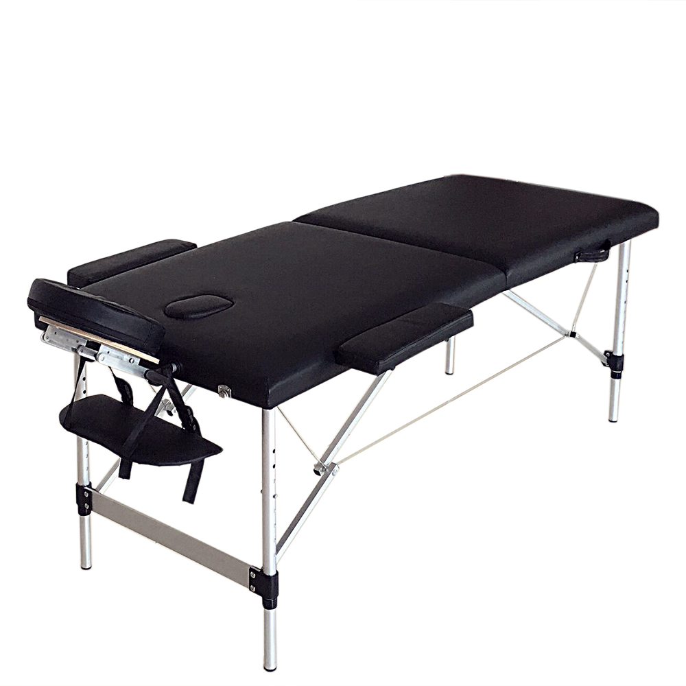 """Zimtown Ultra Lightweight Portable Massage Bed, 73"""" - 84"""" Length 2 Section Folding Professional Massage Salon Table with Carrying Bag and Face Cradle and Arm Rests for SPA Beauty Tattoo"""