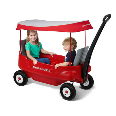 Best Radio Flyer Deluxe All-Terrain Pathfinder Wagon with Canopy deal
