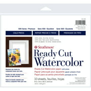 """Strathmore Watercolor Paper Ready Cut Sheets, 500 Series Cold-Press, 8"""" x 10"""", 10 Sheets"""
