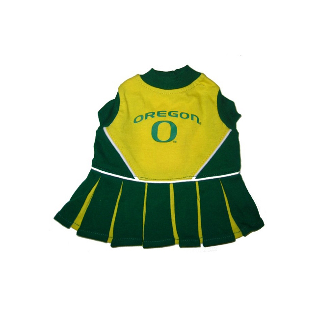 Pets First Oregon Ducks Team Pet Dog Cheer Leading Sports Outfit Medium
