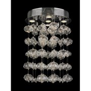 Worldwide Lighting W33153C16 Effervescence 5 Light Flush Mount Ceiling Fixture