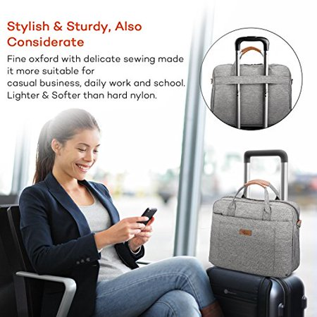 E-Tree 13.3 inch Laptop Sleeve Handbag for 13 to 14 Notebook Shock Proof Ultra Light Weight Oxford Laptop Shoulder Bag - image 3 of 5