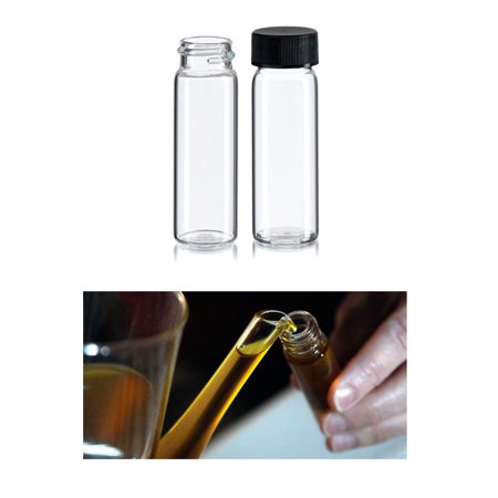 50 Pc Clear Glass Sample Bottle Test Tube Small Bottles Vials Storage Containers ()