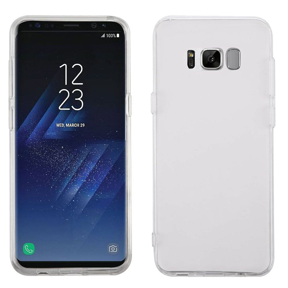 Insten Rubber Case For Samsung Galaxy S8 - Clear (+ USB Type C Cable)
