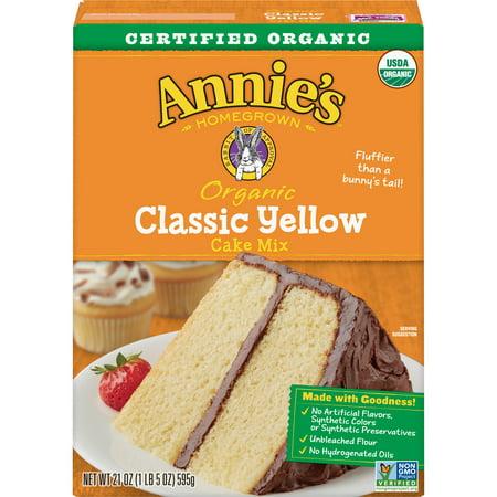 Annie's Organic Classic Yellow Cake Mix, 21 oz Box
