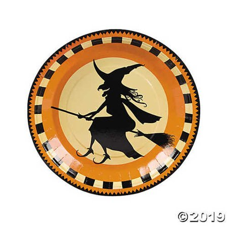 Halloween Silhouette Paper Dinner Plates](Halloween Main Course Dinner)