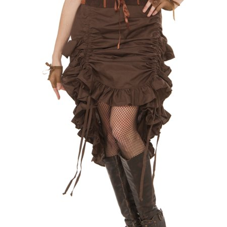 Adult's Womens Steampunk Industrial Age Saloon Girl Skirt Costume - Steampunk Girls Costume
