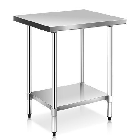 43d6d7cd012 Costway 24   x 30   Stainless Steel Work Prep Table Commercial Kitchen  Restaurant - Walmart.com