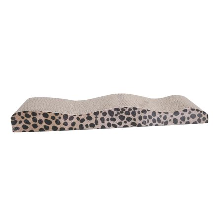 Ktaxon Wave Shape Dual Sides Corrugated Cardboard Cat Scratching Bed Pad with Catnip