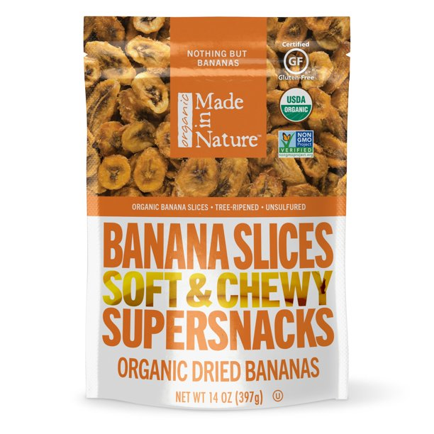 Made In Nature Organic Dried Banana Chips, 14 oz