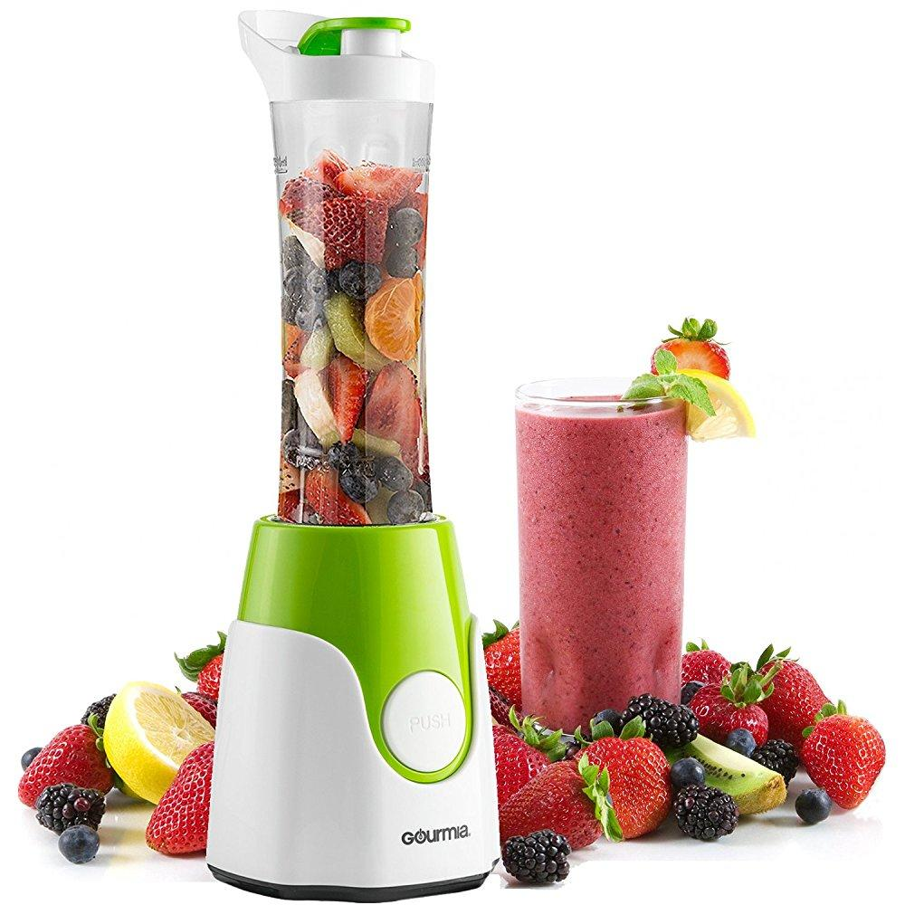 Gourmia GPB-250G BlendMate Smoothie Plus Personal Blender with Travel Sport Bottle and Dual Action Blade 250W, Green