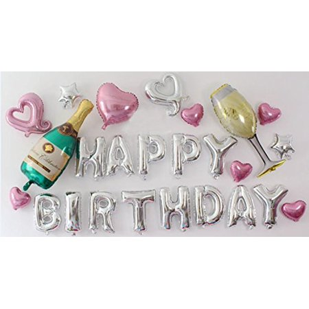 Partywoo Party Balloons 16 Inch Happy Birthday Balloon Foil Balloon
