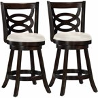 Corliving Woodgrove White Wash Wood 43 Quot Barstool With