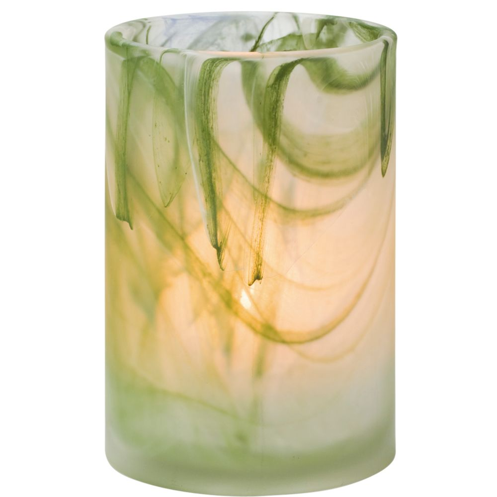 Hollowick 44017GR Green Wysp Cylinder Glass Lamp