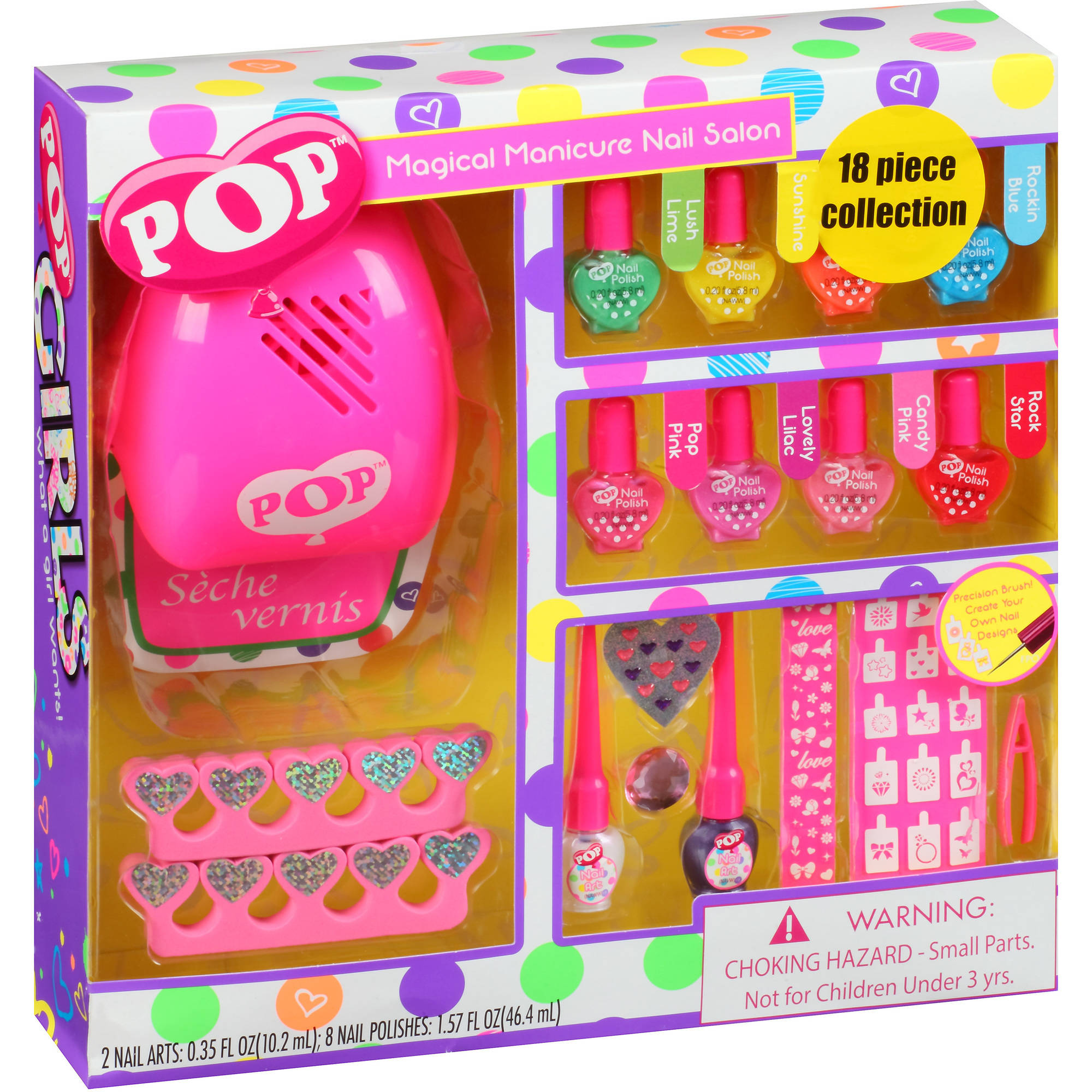 POP Magical Manicure Nail Salon Gift Set, 18 pc