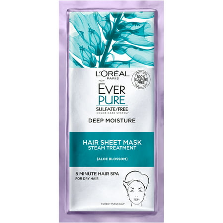 L'Oreal Paris EverPure Deep Moisture Hair Sheet Mask 1 FL OZ