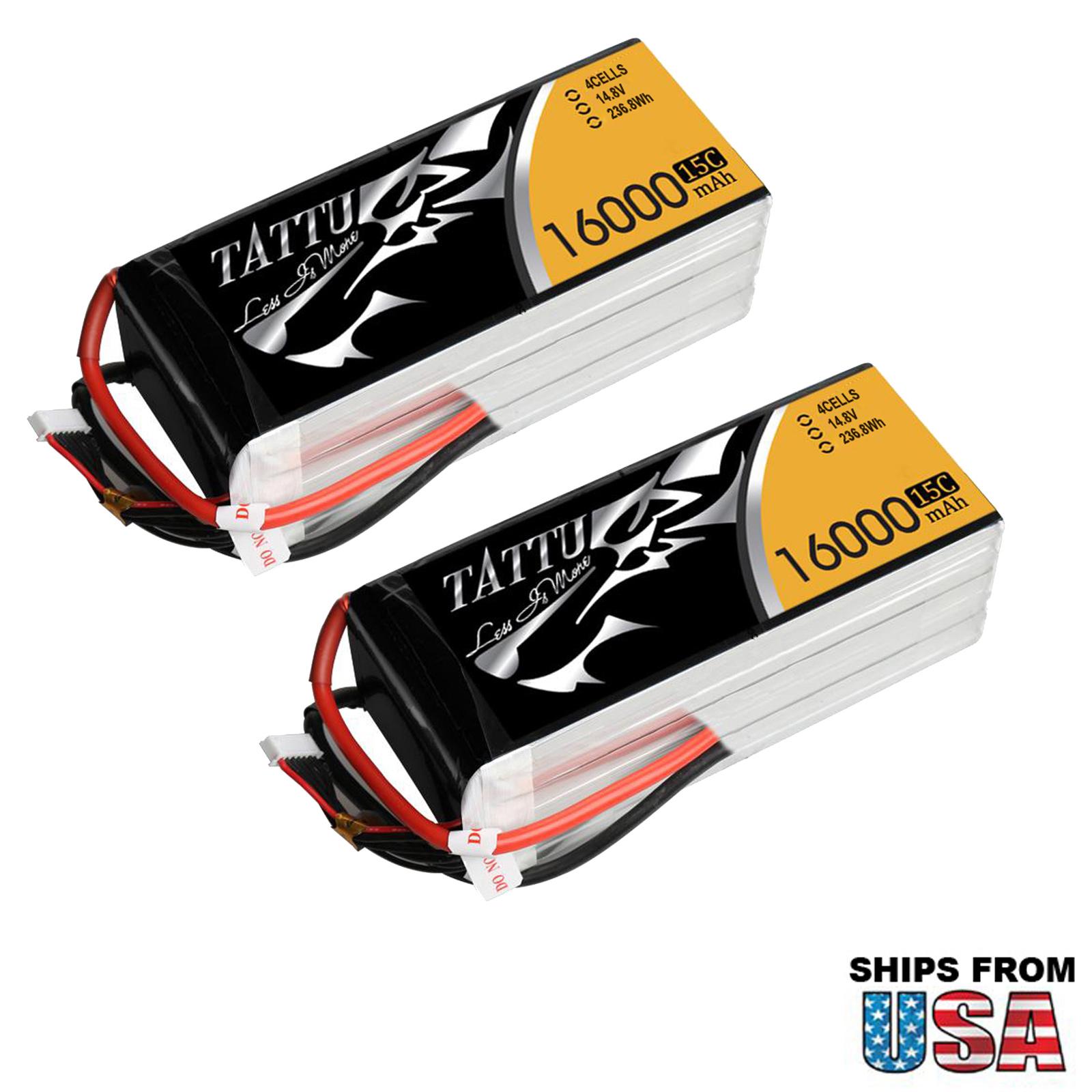 2pc Tattu 16000mAh 4S1P 15C Lipo Battery Pack