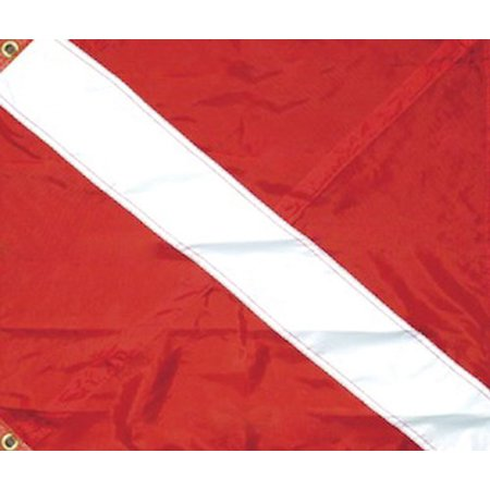 SeaSense Nylon Diver Down 3 Tier Flag, 20-Inch x 24-Inch