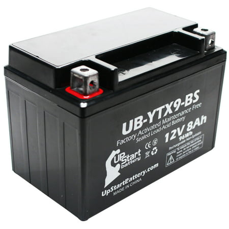 UpStart Battery Replacement 2005 Kawasaki ZZR600 600CC Factory Activated, Maintenance Free, Motorcycle Battery - 12V, 8Ah, UB-YTX9-BS (Motorcycle Factory Kawasaki)