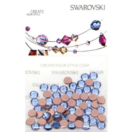 Swarovski 2038 Hot Fix Rhinestones FlatBack 10ss Light Sapphire 100 pcs