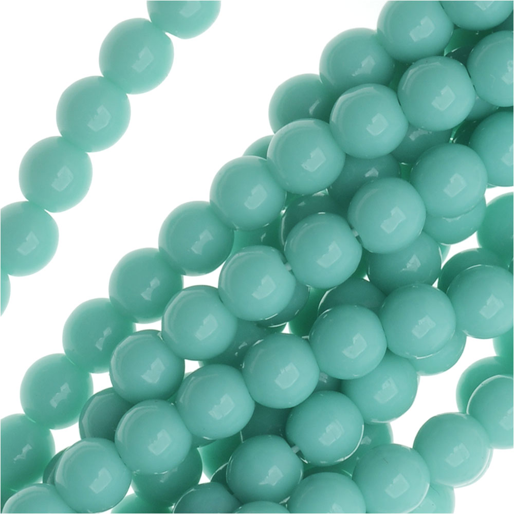 Czech Glass Druk Round 4mm Turquoise (100 Beads)