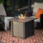 Pleasant Hearth Rio 38 Quot Square Wicker Gas Fire Pit Table