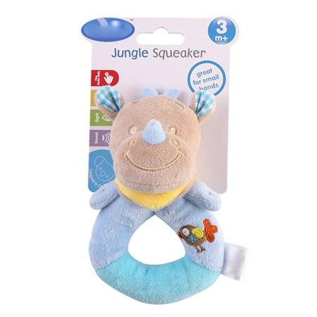 Left Wind Baby Rattles Stuffed Animal, Soft Plush Wrist Rattle for Babies, Early Development Shaker Sensory Toys Newborn Gift for Boy Girl