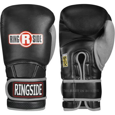 Ringside Gel Shock Safety Sparring Boxing Gloves 16 oz Black /