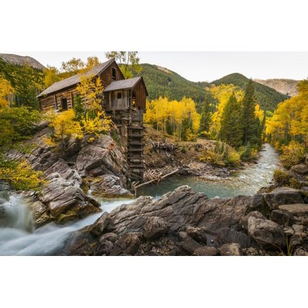 Crystal Mill Is One of the Major Iconic Shots of Colorado in Autumn Print Wall Art By Jason J. (Colorado Mills 16)
