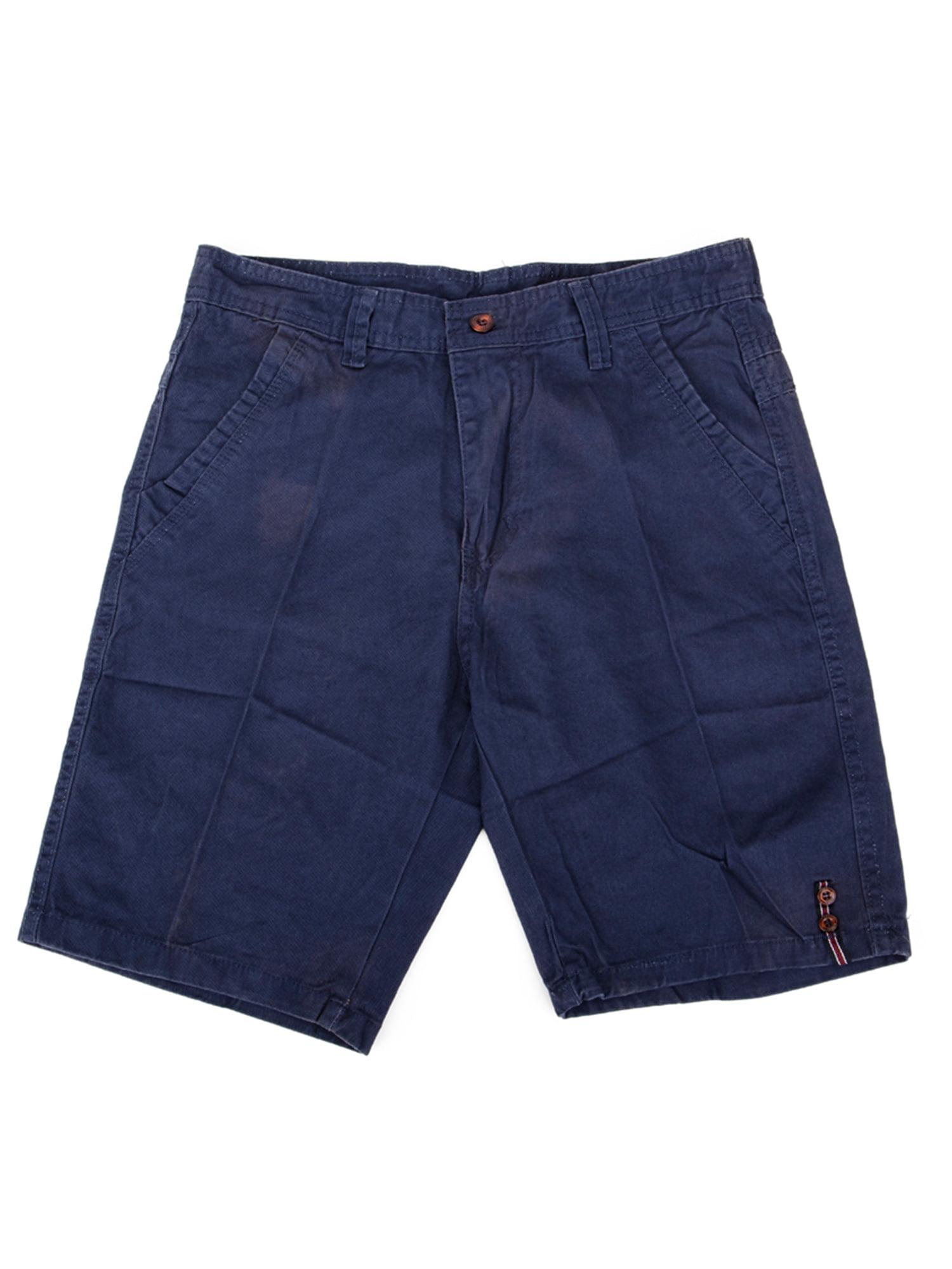 Mens Big & Tall Cargo Shorts Baggy Navy Blue BDU Cotton Cargo Short