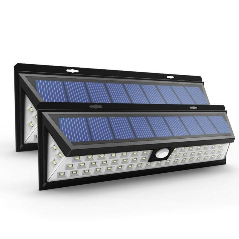 118LED Solar Powered PIR Motion Sensor Wall Security Light Lamp Garden Outdoor Z