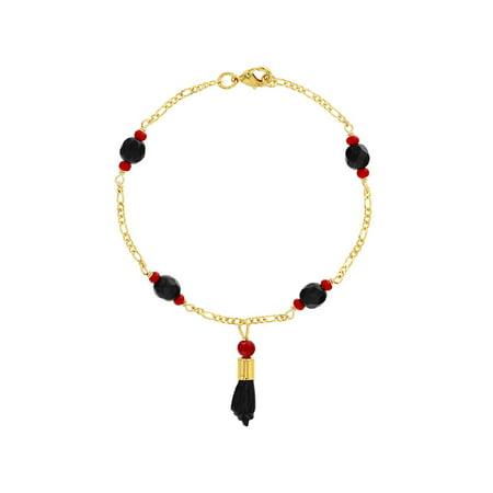 18k Gold Plated Figa Hand Simulated Azabache Mal de Ojo Protection Bracelet - Mals Custom Jewelry
