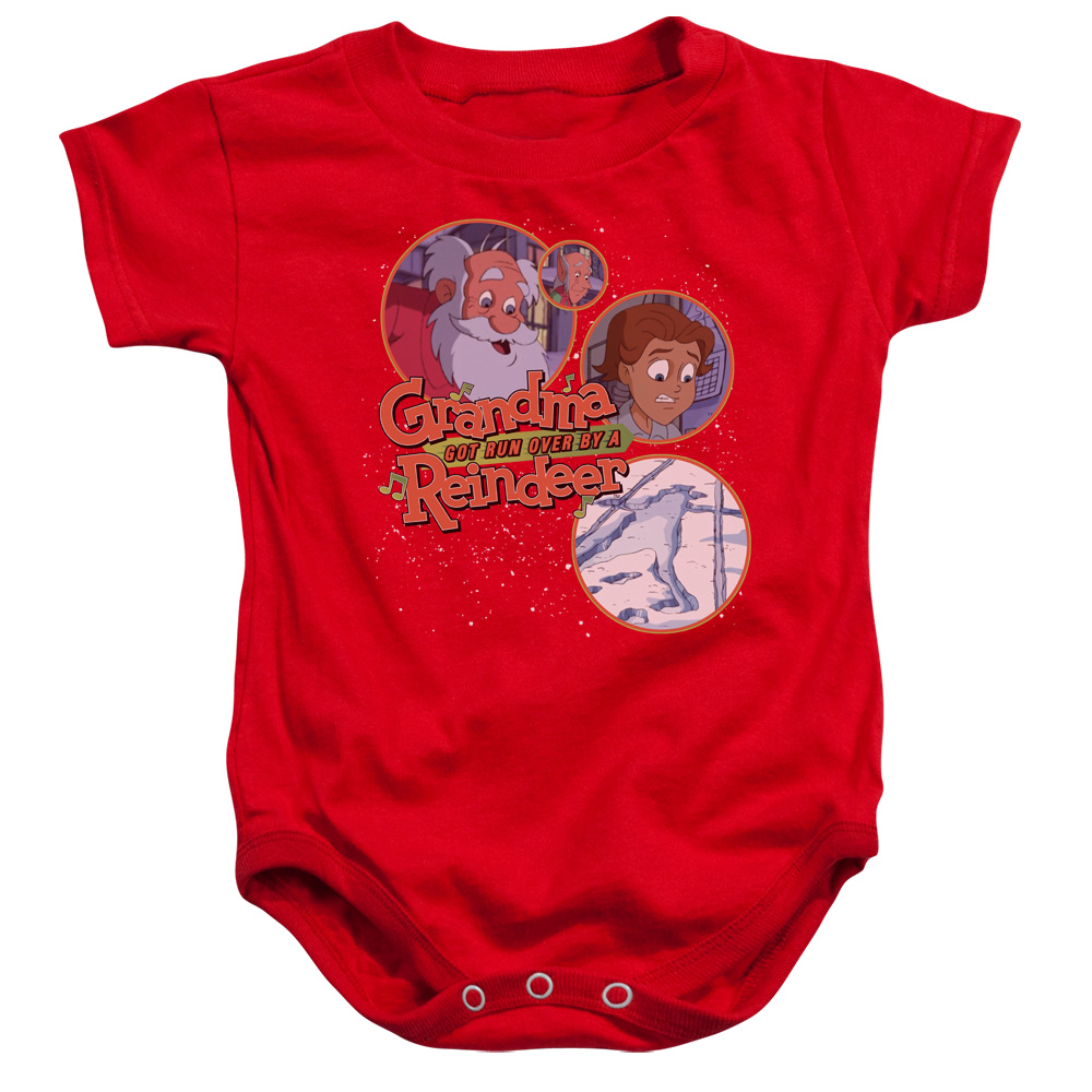 Grandma Got Run Over By A Reindeer Santa And Family Unisex Baby Snapsuit