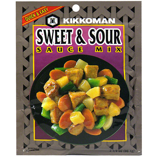 Kikkoman Sweet & Sour Sauce Mix, 2 oz. (Pack of 24)