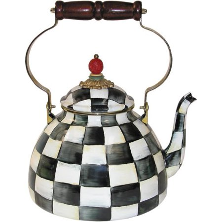 MacKenzie-Childs Courtly Check Enamel Tea Kettle 3