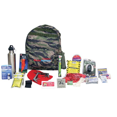 Ready America Emergency Deluxe 1-Person Outdoor Survival Kit