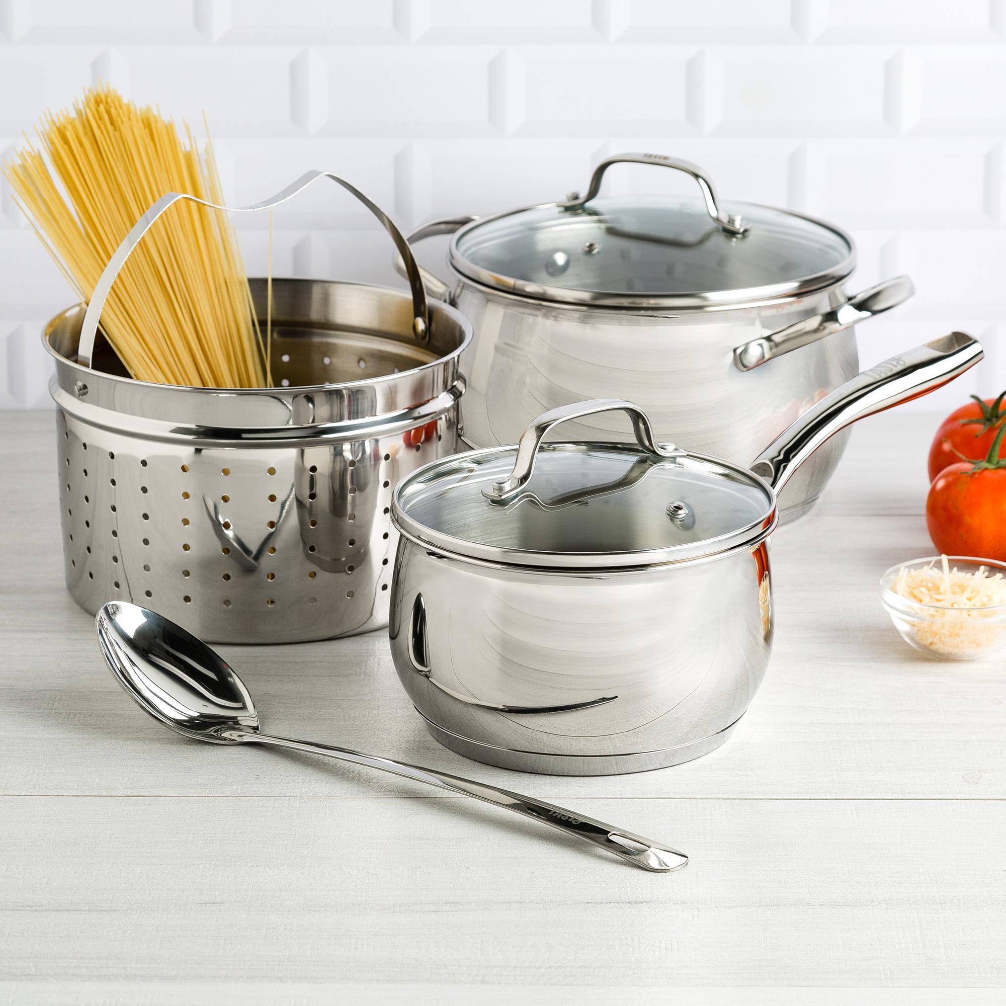 Tasty 6 Piece Premium Stainless Steel Cookware Set