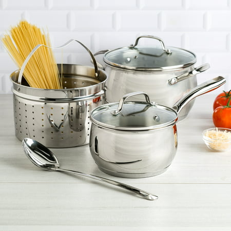 Tasty 6 Piece Premium Stainless Steel Cookware Set