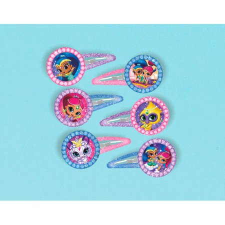 Shimmer and Shine Glitter Hair Barrettes / Favors (12pc)