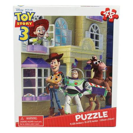 Toy Story 3 Buzz, Woody, Jessie, and Bullseye Kids Jigsaw Puzzle (48pc) - Woody And Buzz And Jessie