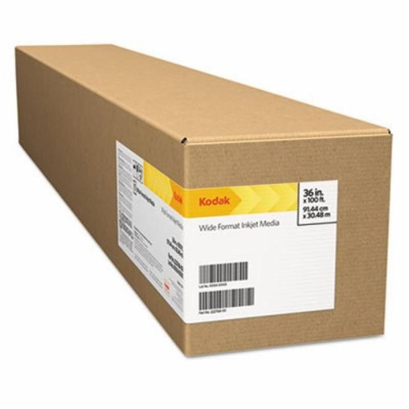 """Kodak Rapid-Dry Self-Adhesive Glossy Poly Poster, 6 mil, 50"""" x 100 ft, White, 1 Roll by"""