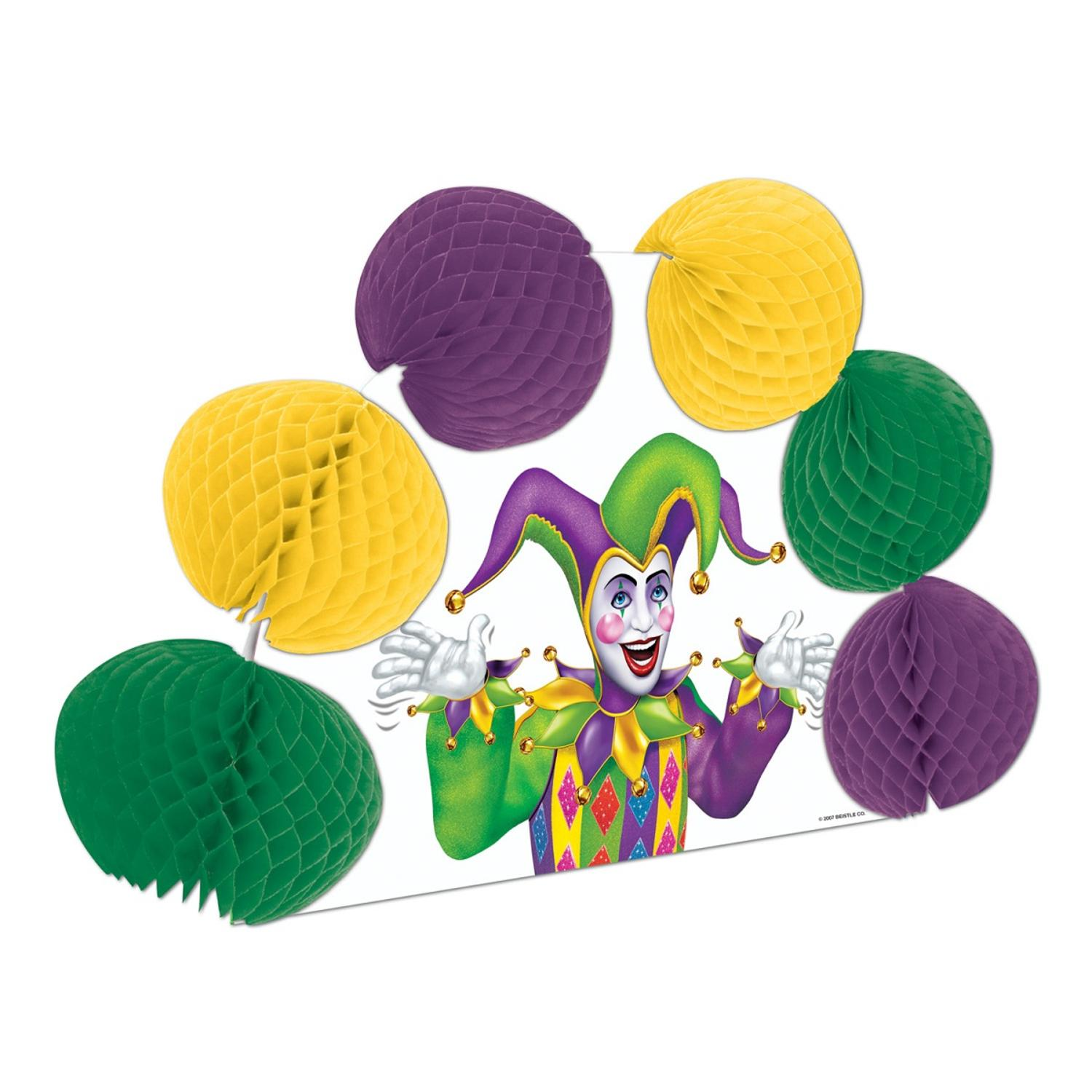 """Club Pack of 12 Mardi Gras Pop-Over Honeycomb Centerpiece Party Decorations 10"""""""