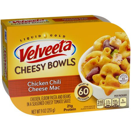 Velveeta Chicken Chili Cheese Mac Cheesy Bowls 9 oz. Tray