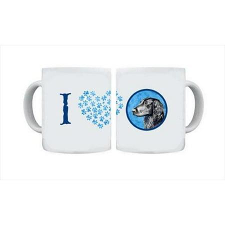 Flat Coated Retriever Dishwasher Safe Microwavable Ceramic Coffee Mug 15 ounce