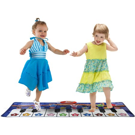 Kidzlane Durable Piano Mat  10 Selectable Sounds  Play And Record  For Kids 3   Dance And Learn