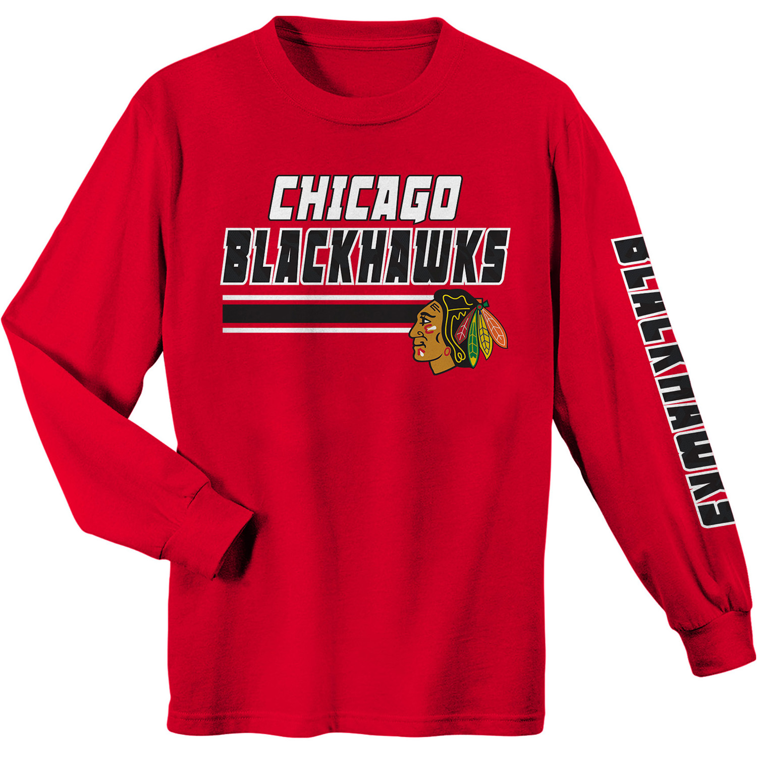 Youth Red Chicago Blackhawks Long Sleeve T-Shirt